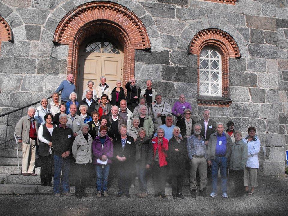 Gruppbild vid Juva Kyrka
